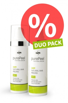 DUO PACK - Fruchtsäurepeeling-Gel 25pf Natural AHA Peeling, 2 x 30ml