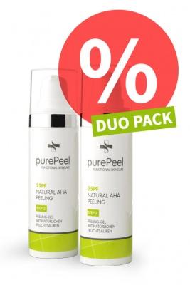 DUO PACK - Fruit acid exfoliant gel 25pf Natural AHA Peeling, 2 x 30ml